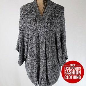 Loft | Open Front Sweater Wrap Kimono Poncho (L)